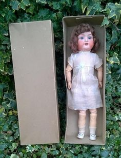 Delightful Armand Marseille Bisque Head Doll 390 In Original Box - Germany 1900