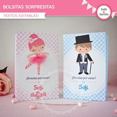 Ballerina Baby Showers, Ballerina Party, 7th Birthday, Birthday Party Themes, Birthday Ideas, Ideas Para Fiestas, Party Favors, Diy And Crafts, Place Card Holders