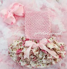 Hot Sale Baby Set Girls Boys Crochet Corset Tutu Tube Top with Satin Print Bloomers Shorts and Headband Set Children Cloth Sets #Affiliate