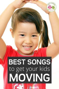 Here is a list of the best fun preschool movement songs. Try out a few of these silly action songs to get your preschoolers moving and grooving. These  are great circle time ideas and music ideas for preschool, pre-k, kindergarten or with your kids for at home learning. Includes links to youtube preschool songs. Work on gross motor skills coordination. Your kids will love to dance and sing along with these early childhood favorites.