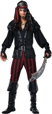 Men Costumes: Plundering Pirate Ruthless Rogue Buccaneer Halloween Costume Outfit Adult Men Xl BUY IT NOW ONLY: $30.62