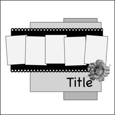 5 photos - Like the film strip look of this