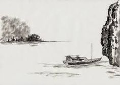 Image result for traditional chinese boats drawing painting Japanese Painting, Chinese Painting, Chinese Boat, Boat Drawing, Chinese Landscape, Ink Painting, Drawings, Outdoor, Image