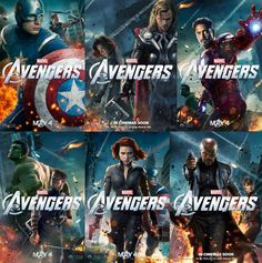 avengers movie characters | Avengers Character Poster - F5toRefresh