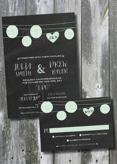 LANTERN I DO Chalkboard Poster Wedding by PaperHeartCompany