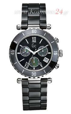 Buy Guess Sport Class XXL Chronograph Rosegold SS Black Ceramic Men Watch  at online store 245eb979285