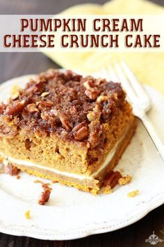 Pumpkin Cream Cheese Crunch Cake recipe from southern bite is a yummy taste of fall.