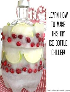 see how to make this DIY ice bottle cooler