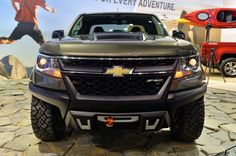 2016 Chevrolet Colorado  ZR2 Concept diesel LA Auto  Show 2014 - Electronic  Locking front and rear  Differentials - Skid Plates -  Mono-Tube Coilover shock  Absorbers - 18 inch wheels -  2.8 liter Duramax Diesel  Engine - 181HP and 369TQ