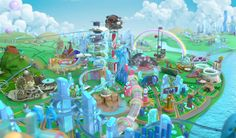 Energizer - Positive Land by Javier Lourenço / Flamboyant Paradise , via Behance