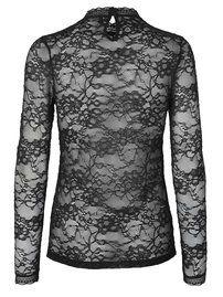 Delicate lace blouse // black