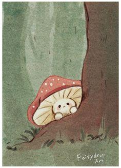 Animes Wallpapers, Cute Wallpapers, Pretty Art, Cute Art, Arte Indie, Mushroom Art, Mushroom Drawing, Arte Sketchbook, Dibujos Cute