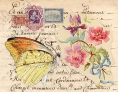 artistic envelope - mail art  - collage