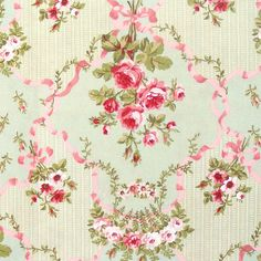 shabby chic home decor fabric vintage floral fabric and pink roses home decor 13053
