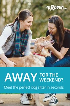 Leaving your dog is tough, but it just got a lot easier. Before your next trip or long day at work, use Rover to connect with an amazing pet sitter or dog walker who lives in your zip. Sign up and get $20 to give it a shot.