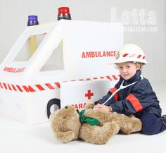 cardboard ambulance, picture only.