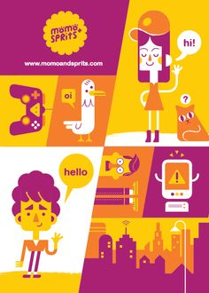 Promo Prints by Momo & Sprits, via Behance
