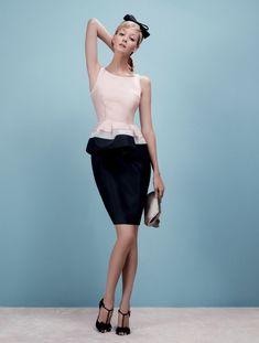 лукбук Paule Ka прет-а-порте 2012 #vestido #peplum #bicolor