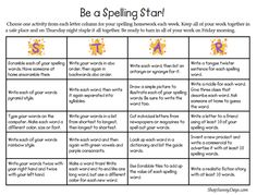 Show and Tell Tuesday - Spelling