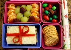 Bento de Natal: comida com decoração natalina para crianças