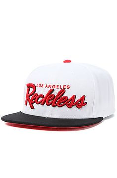 The OG Reckless Snapback Hat in White and Black by Young  use rep code: OLIVE for 20% off!