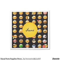 Emoji Party Supplies Personalized Paper Napkin