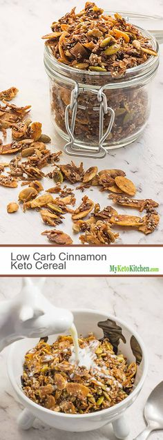 Low Carb Cinnamon Keto Cereal