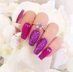 fucsia viola glitter