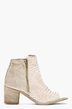 Officine Creative Grey Leather Basketwoven Cut-Out Skip Boots from SSENSE - Styhunt Beach Pink, Pink Summer, Summer Time, Oxfords, Cute Shoes, Me Too Shoes, Bootie Boots, Shoe Boots, Ankle Booties