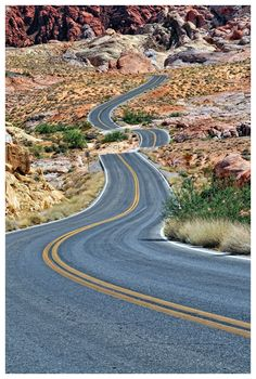Road in the Valley of Fire, Nevada, USA