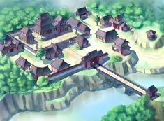 View an image titled 'Payon Art' in our Ragnarok Online art gallery featuring official character designs, concept art, and promo pictures. Fantasy Village, Fantasy City, Fantasy Places, Japan Architecture, Chinese Architecture, Concept Architecture, Japanese Palace, Japanese Castle, Fantasy Art Landscapes
