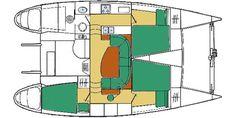 Lagoon 37 TPI Layout 3 cabin 2 head catamaran caroline.laviolette@catamarans.com