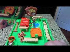 Run Yourself Ragged vintage 80s TOMY marble game play - YouTube