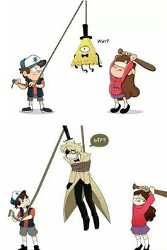 Get made into a pinata or being tied up Gravity Falls Anime, Gravity Falls Funny, Gravity Falls Fan Art, Reverse Gravity Falls, Gravity Falls Bill Cipher, Gravity Falls Comics, Anime Mouth Drawing, Ship Drawing, Bill X Dipper