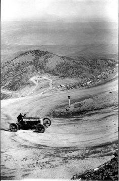 Pikes Peak Hill Climb ~ 1925 in Colorado near Colorado Springs