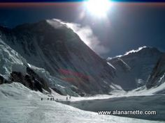 Everest and Lotse from the Western Cwm: a good weather window has opened up on Everest and teams are headed to the summit! Good luck and stay safe...