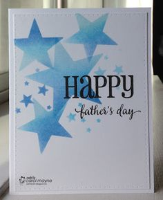 Just Me: c: Starry Father's Day...CAS(E) this Sketch #174, Cards In Envy~Deep Blue Card Challenge, Uniko Challenge #32~Masculine (Father's Day Twist), and Happy Little Stampers~Anything Goes