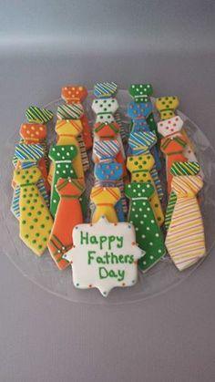 Fathers Day Cookies - Necktie Cookies