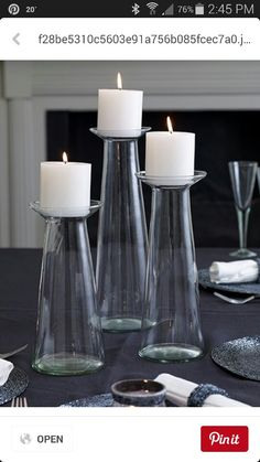 20%of candles.This set is multifunctional  it can be used as vases or put beads/ sand or flowers  in the bottom and use as decorative  candle holder. $80 set
