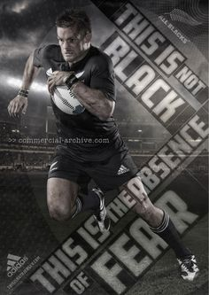 Marketing through sports Adidas All blacks products Audience is Rugby fans Place is adidas retailers Cost is price of product Sports Advertising, Sports Marketing, Pumas, Adidas, Cover Design, Rugby School, Rugby Poster, Rugby Union Teams, Richie Mccaw