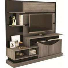 Centro de Entretenimiento Wall Tv Unit Design, Furniture, Living Room Tv, Living Decor, Tv Unit Furniture, Home Furniture, Living Room Tv Unit, Tv Stand Designs, Living Room Designs