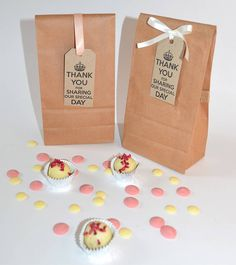 Vintage Handmade Chocolate Wedding Favours