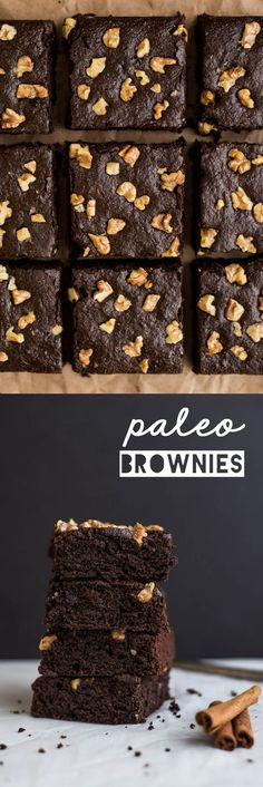 Spiced #Paleo Brownies - super easy dessert that's naturally sweetened and #glutenfree!