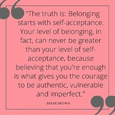 The best Brene Brown quotes about shame, vulnerability, and self-acceptance. Inspiring Brene Brown quotes to help you gain insight, build self-esteem, and self-compassion. Sassy Quotes, Great Quotes, Quotes To Live By, Funny Quotes, Inspirational Quotes, Motivational Quotes, Super Quotes, Shame Quotes, Inspirational Words Of Encouragement