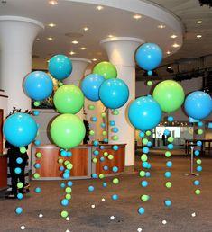 Balloon Decor Corporate Events — Artistic Balloon Decor Balloon Columns, Balloon Wall, Balloon Arch, Balloon Garland, Balloon Ideas, Balloon Decorations, Table Decorations, Helium Balloons, Latex Balloons