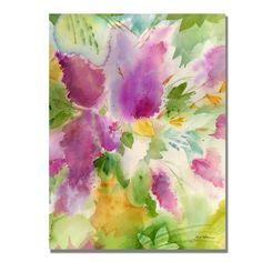 Shelia Golden 'Lilacs' Art