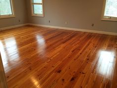 Reclaimed heart pine finished with Waterlox original (tung oil). No stain, only natural beauty.