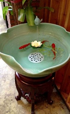 Option #2 for a koi fountain by my door on the porch!!