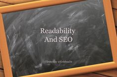 Readability  And SEO / Curated by @KrishnaDe