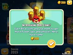 Angry Birds Seasons Invasion Of The Eggsnatchers Bird Coins Screen